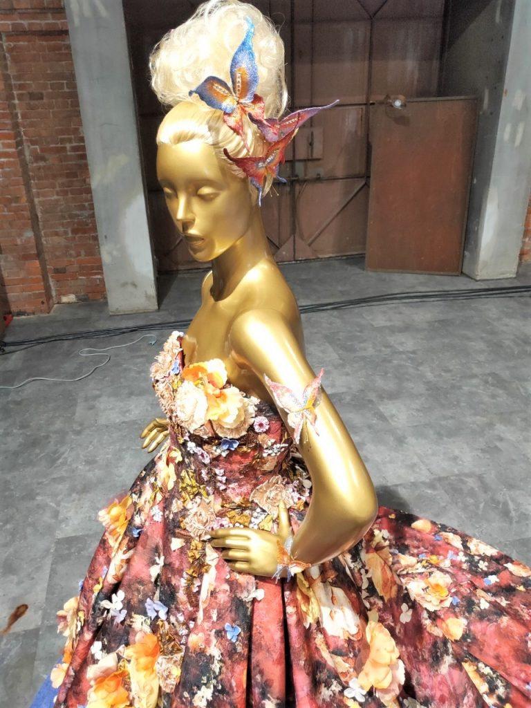 IMG 2566 2 768x1024 - パリクチュールコレクション・ドレス用立体刺繍