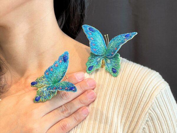 ブルーグリーン蝶